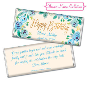 Bonnie Marcus Collection Personalized Chocolate Bar Chocolate & Wrapper Here's Something Blue Birthday Favors