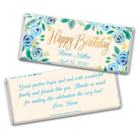 Here's Something Blue Birthday Favors Personalized Candy Bar - Wrapper Only