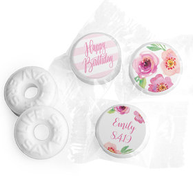 Floral Embrace Personalized Birthday LIFE SAVERS Mints Assembled