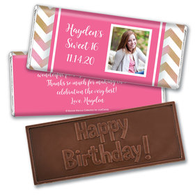 Personalized Bonnie Marcus Birthday Picture Your Birthday Embossed Chocolate Bars