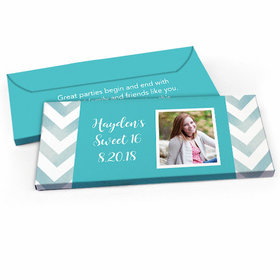 Deluxe Personalized Picture Your Birthday Sweet 16 Candy Bar Favor Box