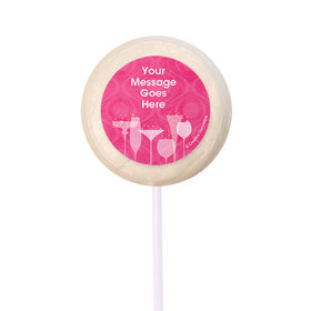 """Born to be Fabulous Personalized 2"""" Lollipops (24 Pack)"""