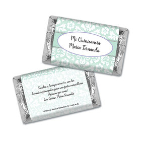 Bask in Damask Personalized Miniature Wrappers