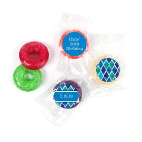 Beautiful Blues Personalized Birthday LIFE SAVERS 5 Flavor Hard Candy Assembled