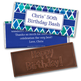 Beautiful Blues Personalized Embossed Bar