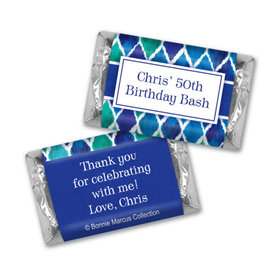 Beautiful Blue Personalized Miniature Wrappers