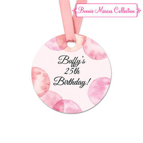Personalized Blithe Spirit Birthday Round Favor Gift Tags (20 Pack)