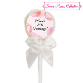 Bonnie Marcus Collection Personalized Lollipop Blithe Spirit Birthday (24 Pack)