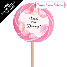 "Bonnie Marcus Collection Personalized 3"" Swirly Pop Blithe Spirit Birthday (12 Pack)"