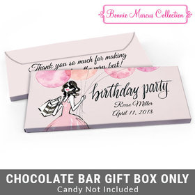 Deluxe Personalized Blithe Spirit Birthday Candy Bar Favor Box