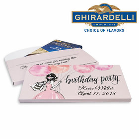 Deluxe Personalized Blithe Spirit Birthday Ghirardelli Chocolate Bar in Gift Box