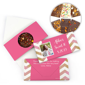 Personalized Bonnie Marcus Chevron Photo Birthday Gourmet Infused Belgian Chocolate Bars (3.5oz)