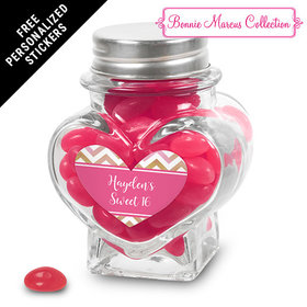 Bonnie Marcus Collection Personalized Heart Jar - Picture Your Birthday (12 Pack)