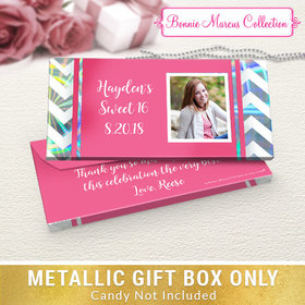Deluxe Personalized Chevron Birthday Candy Bar Favor Box