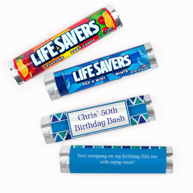 Personalized Diamond Pattern Birthday Lifesavers Rolls (20 Rolls)
