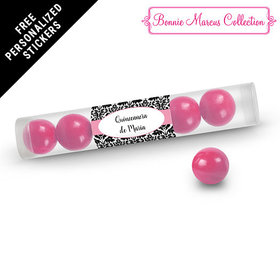 Bonnie Marcus Collection Personalized Gumball Tube Quinceaera (12 Pack)