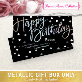 Deluxe Personalized Polka Dots Birthday Candy Bar Favor Box