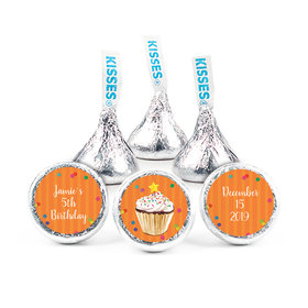 Personalized Bonnie Marcus Birthday Cupcake Dazzle Hershey's Kisses (50 pack)