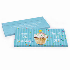 Deluxe Personalized Cupcake Dazzle Birthday Chocolate Bar in Gift Box