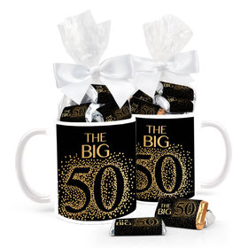Birthday Sparkling 50th 15oz Mug with Hershey's Miniatures