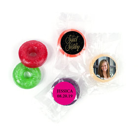 Personalized Bonnie Marcus Gold Dots Sweet 16 Life Savers 5 Flavor Hard Candy