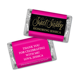 Personalized Bonnie Marcus Gold Dots Sweet 16 Mini Wrappers Only