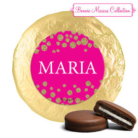 Personalized Bonnie Marcus Gold Sparkle Quinceanera Chocolate Covered Oreos