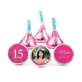 Personalized Bonnie Marcus Birthday Quinceanera Photo Hershey's Kisses (50 pack)