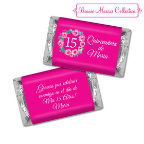 Personalized Bonnie Marcus Wreath Quinceanera Hershey's Miniatures