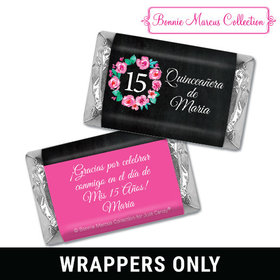 Personalized Bonnie Marcus Wreath Quinceanera Mini Wrappers Only