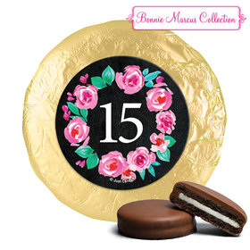Personalized Bonnie Marcus Wreath Quinceanera Chocolate Covered Oreos (24 Pack)