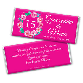 Personalized Bonnie Marcus Wreath Quinceanera Chocolate Bar Wrappers Only