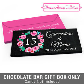 Deluxe Personalized Bonnie Marcus Quinceañera Wreath Candy Bar Cover
