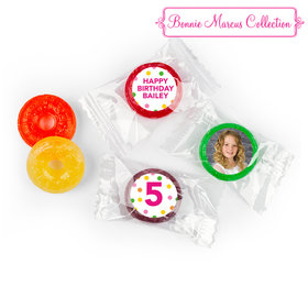 Personalized Life Savers 5 Flavor Hard Candy - Bonnie Marcus Birthday Tropical