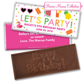 Personalized Bonnie Marcus Tropical Birthday Embossed Chocolate Bar & Wrapper