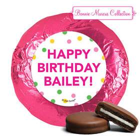 Personalized Milk Chocolate Covered Oreos - Bonnie Marcus Tropical Birthday (24 Pack)