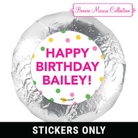"Personalized 1.25"" Stickers - Bonnie Marcus Tropical Birthday (48 Stickers)"