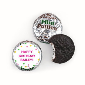 Personalized Pearson's Mint Patties - Bonnie Marcus Tropical Birthday
