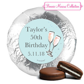 Personalized Chocolate Covered Oreos - Birthday Bubbly Party Blue