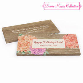 Deluxe Personalized Blooming Joy Birthday Hershey's Chocolate Bar in Gift Box