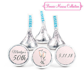 Personalized Hershey's Kisses - Bonnie Marcus Birthday Bubbly Party Pink (50 Pack)