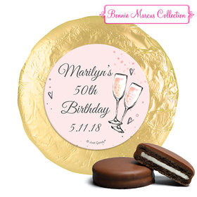 Personalized Chocolate Covered Oreos - Birthday Bubbly Party Pink