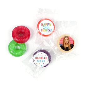 Personalized Bonnie Marcus Colorful Candles Birthday LifeSavers 5 Flavor Hard Candy