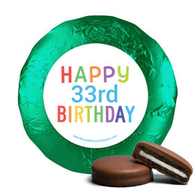 Personalized Bonnie Marcus Birthday Colorful Candles Chocolate Covered Oreos (24 Pack)
