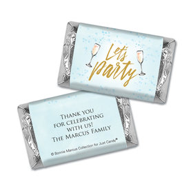 Personalized Bonnie Marcus Birthday Champagne Party Mini Wrappers Only