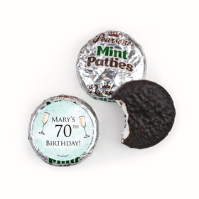 Personalized Birthday Champagne Party Pearson's Mint Patties