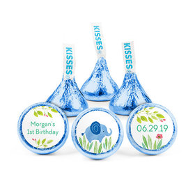 Personalized Bonnie Marcus Birthday Safari Snuggles Hershey's Kisses (50 pack)