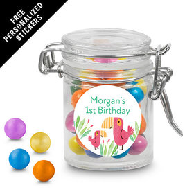 Bonnie Marcus Collection Personalized Round Latch Jar Safari Snuggles (6 Pack)