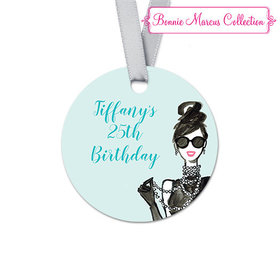 Personalized In Vogue Birthday Round Favor Gift Tags (20 Pack)
