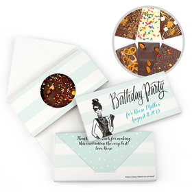 Personalized Bonnie Marcus Birthday Vogue Gourmet Infused Belgian Chocolate Bars (3.5oz)